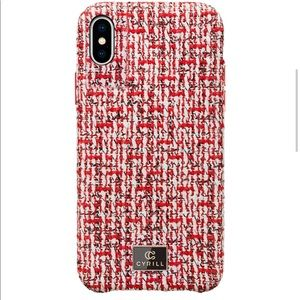 NEW CYRILL Paris Rouge Tweed Case   iPhone XS Max